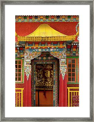 Art In A Buddhist Monastery, Sikkim Framed Print