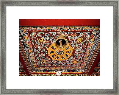 Art In The Architecture Of A Buddhist Framed Print by Jaina Mishra