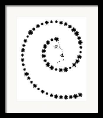 Swirly Drawings Framed Prints