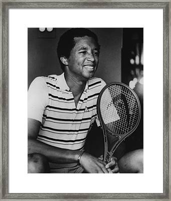 Arthur Ashe Framed Print by Retro Images Archive