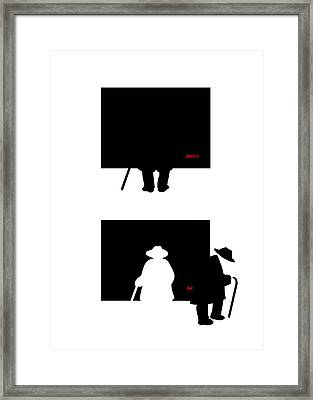 Framed Print featuring the digital art Arthur by Tom Dickson