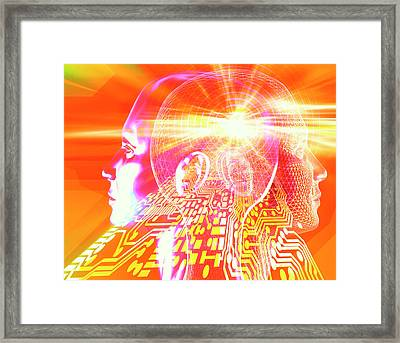 Artificial Intelligence Framed Print by Alfred Pasieka/science Photo Library