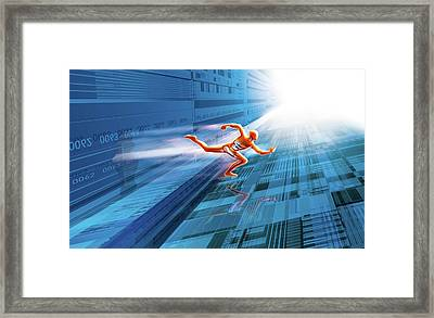 Artificial Intelligence Framed Print by Harald Ritsch