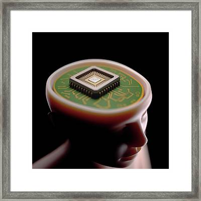 Artificial Intelligence Framed Print by Ktsdesign