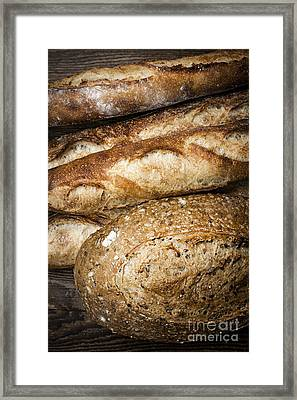 Artisan Bread Framed Print by Elena Elisseeva