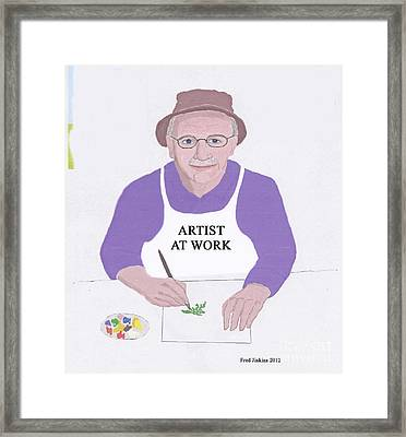 Artist At Work Framed Print by Fred Jinkins