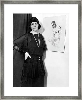 Artist Caroline Mytinger Framed Print by Underwood Archives