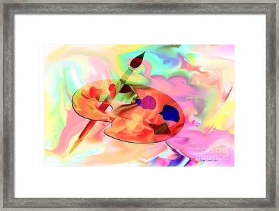 Artist Palette Framed Print by Annie Zeno
