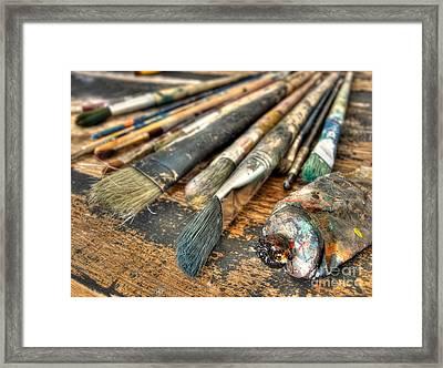 Artistic Brushes Framed Print