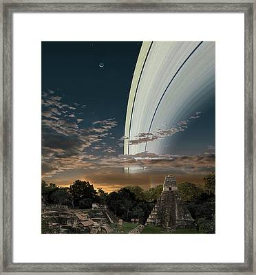 Artists Concept Of Earths Planetary Framed Print