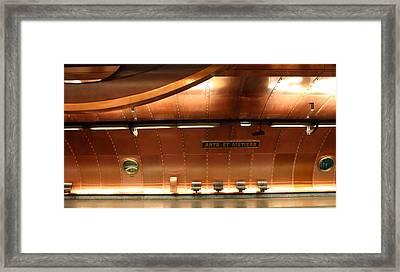 Arts Et Metiers Metro Framed Print by A Morddel