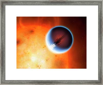 Artwork Of Planet Hd189733b Framed Print by Mark Garlick