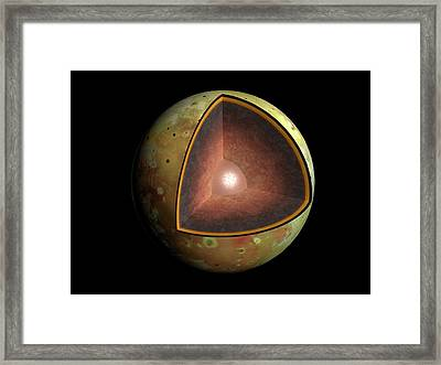 Artwork Of The Interior Of Io Framed Print by Mark Garlick