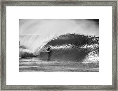 As Good As It Gets Bw Framed Print by Sean Davey