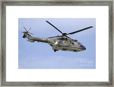 As332m1 Super Puma Helicopter Framed Print