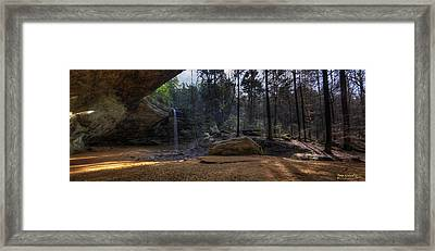 Ash Cave Panorama Framed Print