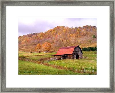 Ashe County Barn Framed Print