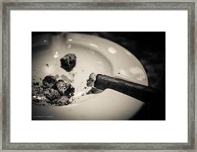 Ashes Of The Evening Framed Print