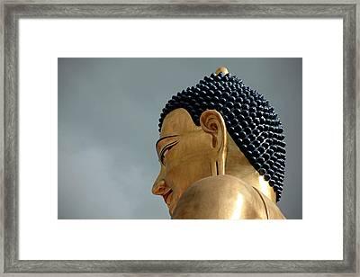 Asia, Bhutan Thimphu The Buddha Framed Print by Kymri Wilt
