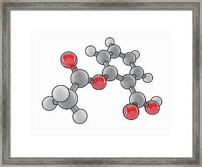 Aspirin Molecular Model Framed Print by Laguna Design