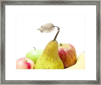 Assorted Fresh Fruit Framed Print