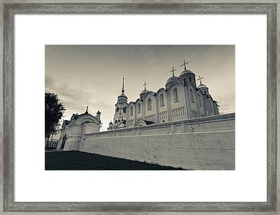 Assumption Cathedral In Vladimir Framed Print by Panoramic Images