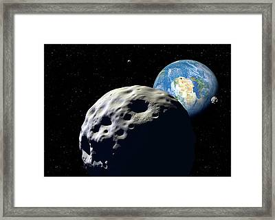 Asteroids Approaching Earth Framed Print