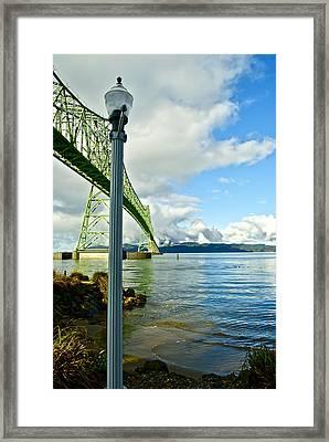 Astoria Bridge Framed Print by Rae Berge