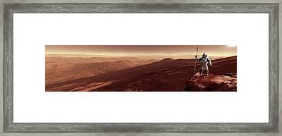 Astronaut On Mars Framed Print