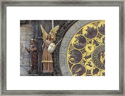 Astronomical Clock Calendar. Framed Print by Fernando Barozza