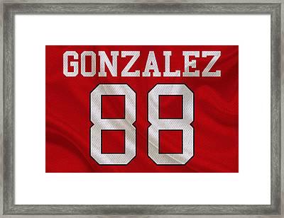 Atlanta Falcons Tony Gonzalez Framed Print by Joe Hamilton