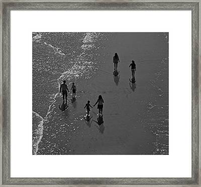 Atlantic City Beach 2 Framed Print by Thomas Camp