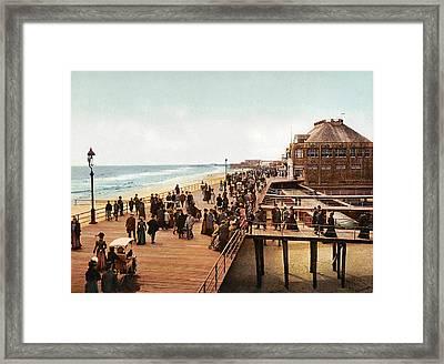 Atlantic City Boardwalk 1900 Framed Print