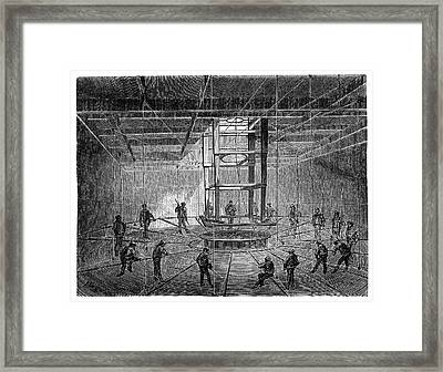Atlantic Telegraph Cable Laying Framed Print