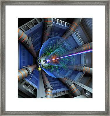 Atlas Particle Collision Simulation Framed Print by David Parker