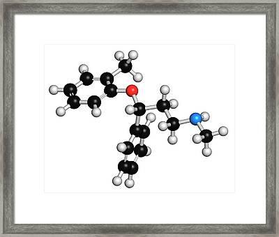 Atomoxetine Adhd Drug Molecule Framed Print by Molekuul