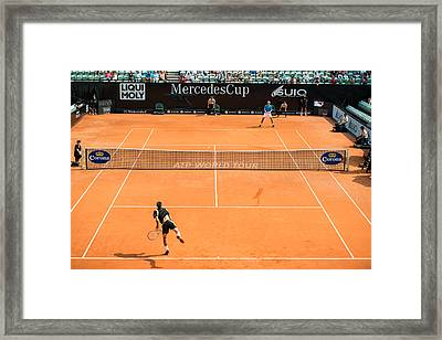 Atp Qualification In Stuttgart - Germany Framed Print by Frank Gaertner