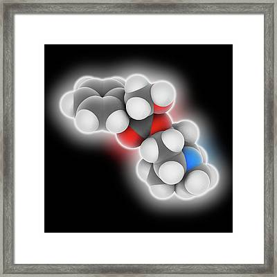 Atropine Drug Molecule Framed Print by Laguna Design