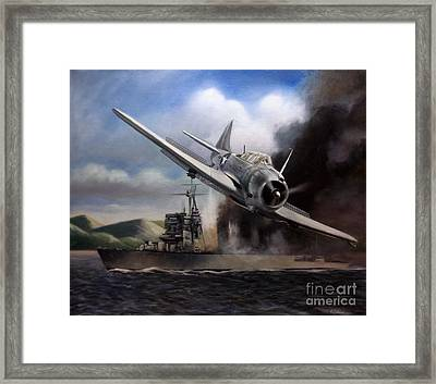 Framed Print featuring the painting Attack On The Yura by Stephen Roberson