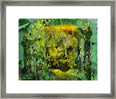 Attacking The Dande-lion Framed Print