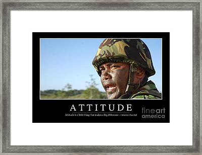 Attitude Inspirational Quote Framed Print by Stocktrek Images