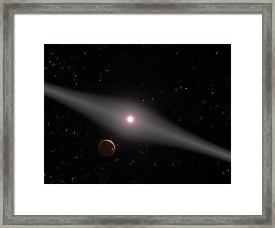 Au Microscopii, Red Dwarf Star Framed Print by Science Source