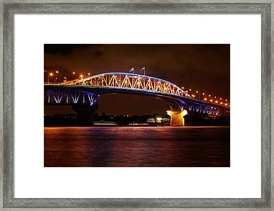 Auckland Harbour Bridge And Waitemata Framed Print