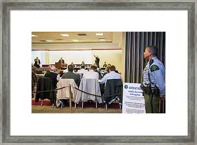 Auction Of Oil And Gas Rights Framed Print