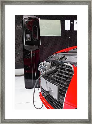 Audi A-3 E-tron Electric Car Framed Print by Jim West