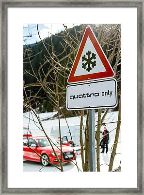 Audi Driving Experience Framed Print