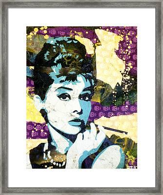 Audrey All Day Framed Print by Bobby Zeik