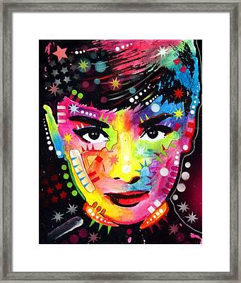 Audrey Hepburn Framed Print by Dean Russo