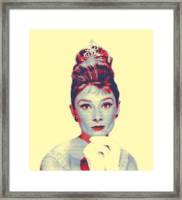 Audrey Hepburn In  Breakfast At Tiffany's Framed Print