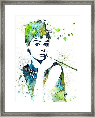 Audrey Hepburn  Framed Print by Luke and Slavi